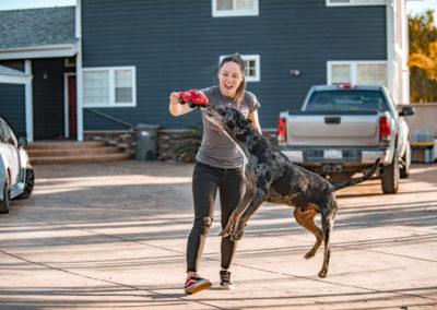Melissa Paris and her dog - Build Train Race