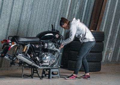 Build Ttrain Race - Melissa Paris and her INT650